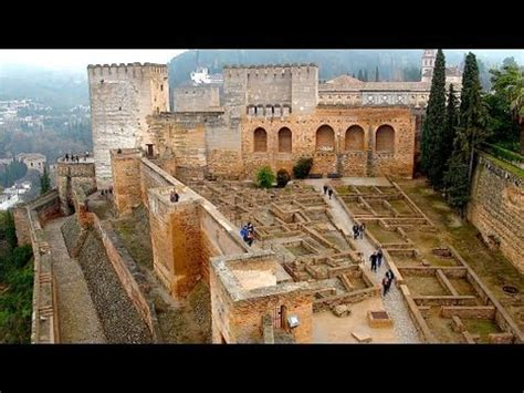 Alhambra Granada with Nasrid Palace in Andalusia, Spain